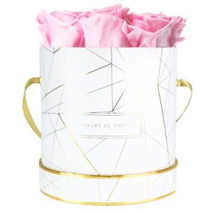 Art Déco Collection Bridal Pink Medium weiss - rund
